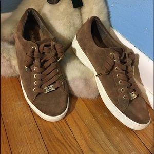 Michael Michael Kors Leather Brown Sneakers
